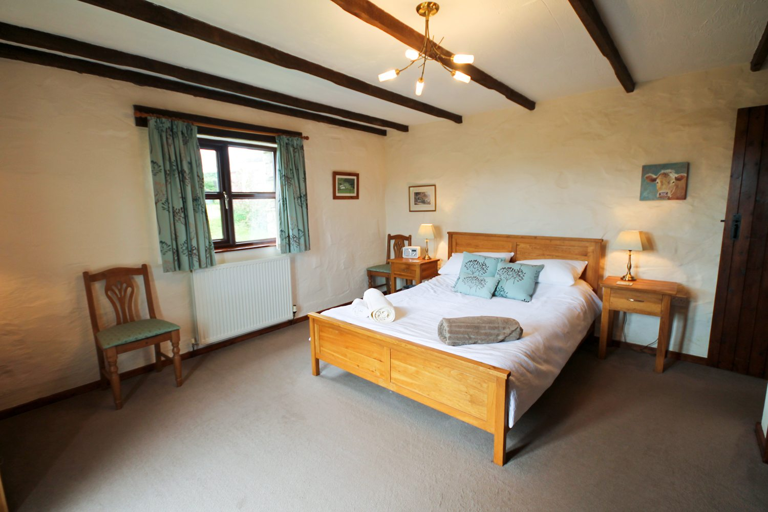 Gorgeous bedroom at the Cowshed Cottage